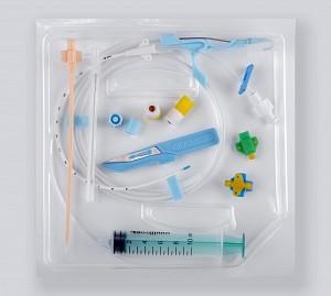 Набор для установки центрального венозного катетера (одно-, двух-, трехканальный)